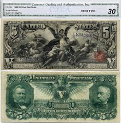 1896 $5 Silver Certificate Educational Note FR-269