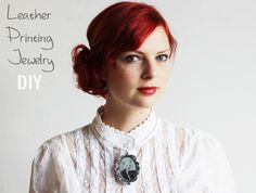 Lana Red: Printing Leather jewelry DIY