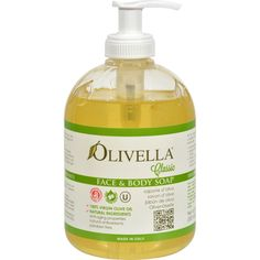 Olivella Face and Body Soap - 16.9 fl oz - Olivella Face and Body Soap Description:    100% Virgin Olive Oil  Anti-Aging Properties  Natural Ingredients  Antioxidants  Paraben Free For every day skin care exerts a nourishing emollient and soothing action on the skin.    Finished product not tested on animals.  Dermatologically tested.  Natural soap with 100% virgin olive oil.  Considering that natural ingredients are used the colour and texture may vary. Free Of Parabens and animal testing…