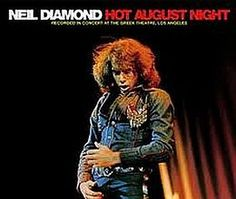 """Recorded on August 24, 1972 at  one of ten sold out concerts that Diamond performed that month at The Greek Theatre in Los Angeles, """"Hot August Night"""" is a live double album by Neil Diamond.  TODAY in LA COLLECTION on RVJ >> http://go.rvj.pm/3tp"""