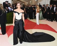 As ever, Emma Watson's beautiful gown was one of the stand out outfits at this year's Met Gala. | Emma Watson's Met Gala Outfit Was Made Out Of Recycled Plastic Bottles