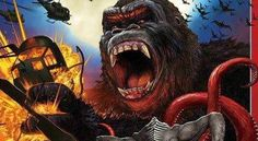 Check out an impressive Japanese Kong: Skull Island poster! Behold, the mighty Kong on a fantastic Japanese Kong: Skull Island poster! Kong Skull Island Poster, Kong Skull Island Movies, Cool Poster Designs, Cool Posters, Movie Posters, King Kong 2005, Japanese Monster Movies, Legendary Pictures