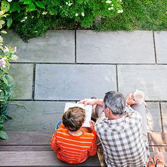 Choose low-maintenance materials - This bluestone patio requires zero attention.