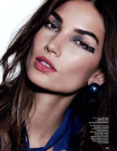 Lily Aldridge Shows Off 4 Bold Beauty Looks For Allure Russia via @WhoWhatWear