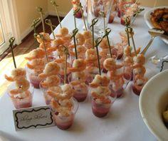 Fancy shrimp appetizers