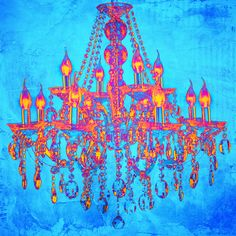 Salty & Sweet Tropic Chandelier Graphic Art on Canvas