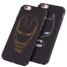 Cheap case cover, Buy Quality phone cases directly from China plus Suppliers: Black hard PC plastic Ultra-thin matte surface batman Phone Case Cover For Apple iPhone 7 5 SE 6 6 plus iron Maniron Man Iphone 7, Apple Iphone 2, Iphone Cases, Batman Phone, Iron Man, Superman, Iphone Price, Best Gifts For Men, Iphone Accessories