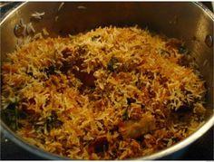 Biryani (Chicken, Mutton, Prawn or Fish) : Indian Wedding Reception Food Menus for Non Vegetarians