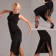 Side split fringe skirt