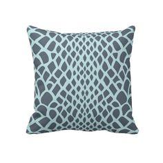 Blue Snake Print Pillows