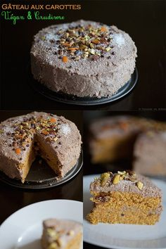 What a joy it is already Friday and the time to rest and make new recipes has arrived :-) Today I offer you this surprising recipe of carrot cake vegan and raw. Mini Desserts, Fall Desserts, Vegan Desserts, Vegan Cheesecake, Vegan Cake, Patisserie Vegan, Raw Carrot Cakes, Gateaux Vegan, Vegetable Cake