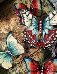 Tim Holtz and Finnabair butterflies ..... | Flickr - Photo Sharing!