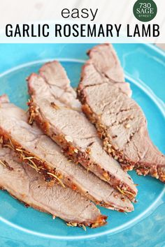 I really enjoyed this Dinner Garlic Rosemary Lamb recipe, as did everyone else. The flavor was delicious and it was a nice change of pace from the typical beef, chicken or pork we usually make.#easyrecipes #lambrecipes #dinner #onthetable Low Carb Chicken Recipes, Low Carb Dinner Recipes, Lamb Recipes, Delicious Dinner Recipes, Cooking Recipes, Yummy Food, Meal Recipes, Rosemary Recipes, Garlic Recipes