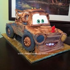 For Henry's birthday? Homemade Tow Mater Birthday Cake: I made this Tow Mater cake for my son's 2nd birthday. Cooper loves the Cars movies and especially Mater. I think his first words were Dad Gum!. Lol.  I