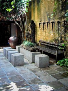 Concrete cube seats