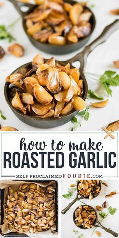 Cooking Tips Roasted Garlic is incredibly easy to make and adds so much flavor to your favorite recipes. Here are my easy cooking tips on how to roast garlic. Roasted Garlic Cloves, Garlic Roasted Potatoes, Baked Garlic, Garlic Pasta, Garlic Minced, Garlic Shrimp, Garlic Parmesan, Garlic Butter, Easy Cooking