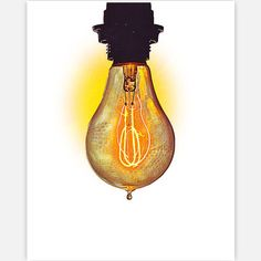 Electric Bulb Print 11x14, $28, now featured on Fab.