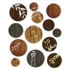 Peel & Stick Reusable Wall Decal-Wood Cut Circles