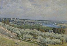 Alfred Sisley - The Terrace at Saint-Germain, Spring - Walters 37992 - Alfred Sisley — Wikipédia