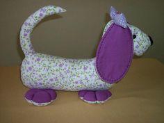 ARTE COM QUIANE - Paps,Moldes,E.V.A,Feltro,Costuras,Fofuchas 3D: Molde cachorrinho de tecido 3D