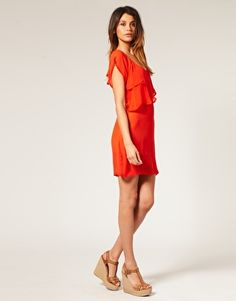 Vero Moda Sheer Layered Drape Collar Chiffon Dress  $51.23  NOW $14.64