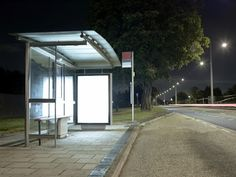 Exterior LED lighting for bus shelters and pathways