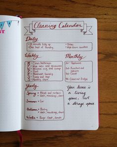 Little Coffee Fox | Inspiration Through Organization | Creating a Cleaning Calendar in the Bullet Journal