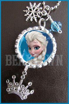 Disney+Frozen+ELSA+Bottle+Cap+Dangle+Bead+Charm+by+BeanTownParties,+$9.99