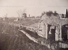 Mura Aureliane Descrizione: Campi e vigne a perdita d'occhio all'interno delle Mura Aureliane. Foto scattata da Porta San Sebastiano Anno: 1868