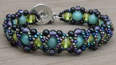 Link to a how-to video plus several other color examples. easy & fast. #seed #bead #tutorial #bracelet.