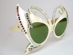 Rare Vintage Butterfly Cat Eye Sunglasses by Vintage50sEyewear