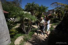 Therapeutic walks in the garden are part of the rehabilitation program at Mission Terrace.