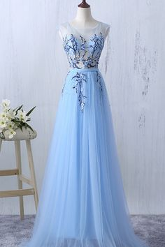 Long Prom Dresses, Sleeveless Prom Dresses, A-Line Party Prom Dresses, Tulle Prom Dresses, See Through Prom Dresses, Sequin Prom Dresses Online,