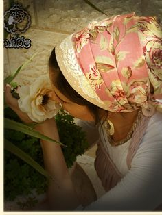 Peach Pink Floral Tichel headcovering/haircovering/Hairscarf/Mitpachat