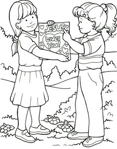 coloring pages tell people about jesus can tell my friends about jesus - Colouring Pictures Of People