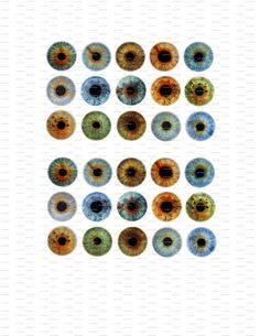 Eyes Digital Collage Instant Download 1 inch by LisaChristines