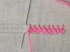 Hand embroidery Border line design | Border line design tutorial - YouTube Hand Embroidery Flowers, Hand Embroidery Tutorial, Hand Embroidery Stitches, Hand Embroidery Designs, Crewel Embroidery, Ribbon Embroidery, Hand Embroidery Projects, Embroidery Techniques, Crochet Stitches