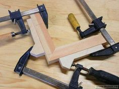 tips to make clamping dogs for making picture frames