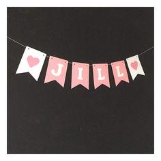 Een persoonlijke favoriet uit mijn Etsy shop https://www.etsy.com/nl/listing/509744026/papieren-naamslinger-sweet-pink-te