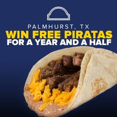PIRATA FEST is coming to Palmhurst TX!  People of Palmhurst, prepare yourselves! Taco Palenque is giving away 1 free pirata and 1 regular sized drink once a week for 80 weeks for the first 80 customers that step into our Taco Palenque Palmhurst location! WHEN? Wednesday, May 25, 2016.  Will you be one of the lucky first 80 customers?! Doors open at 7 a.m.!