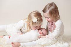Newborn Session with Sisters, Siblings  Krista Gantt Photography Newborn Photographer Charlotte North Carolina Baby Infant Bump Maternity Mint Hill Matthews Studio Lifestyle Outdoor Session Nurse