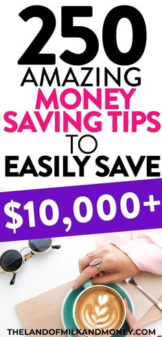 These 250 money saving tips are incredible! Having so many ideas for how to save money fast in one place is great. I'm definitely going to be saving money weekly and monthly with these frugal living hacks. They're perfect to save on groceries, on a Saving Money Weekly, Money Saving Challenge, Money Saving Tips, Saving Ideas, Money Savers, Savings Challenge, Save Money On Groceries, Ways To Save Money, Money Tips