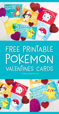 Free Printable Pokemon Valentines Cards Your Kids Will Be Begging For - Free Printable Pokemon Valentines Cards Your Kids Will Be Begging For Fun Activities For Kids simpleeverydaymom *Kids Activities From Simple Everyday Mom* Valentine's Cards For Boys Pokemon Valentine Cards, Free Valentine Cards, Printable Valentines Day Cards, Kinder Valentines, Valentines For Boys, Valentine Crafts, Valentine Ideas, Valentine Cards For School, Classroom Valentine Cards