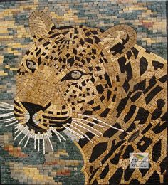 AN021 Marble Mosaic Wild Tiger Tile
