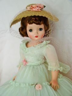 Madame Alexander Vintage Cissy 1956 Garden Party Gown, Slip, Pantaloons, and Hat