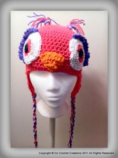 Owl Beanie $25.00 Copyright © Dz Crochet Creations 2011 all rights reserved