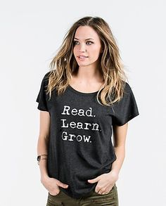 Read. Learn. Grow. Education Quote by Sevenly