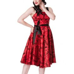HELL BUNNY Red Tattoo 50S Dress Size 10S -- Learn more by visiting the image link.