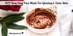 DIY Rose Clay Face Mask For Glowing  amp  Clear Skin Check out rose clay face mask which makes skin radiant and glowing without making it dry. It provides essential nutrients to skin which make skin healthy. #FaceMaskForGlowingSkin #FacialMasksForDarkSpots #NaturalFaceCream Clay Face Mask, Acne Face Mask, Face Skin, Charcoal Face Mask, Rose Clay, Clay Faces, Homemade Face Masks, Facial Masks, Clear Skin