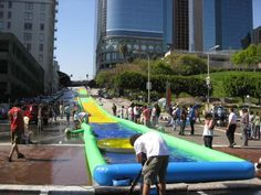 LA's 4th & Hill waterslide